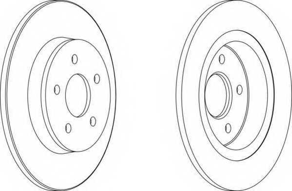 Тормозной диск FERODO DDF1227 - изображение