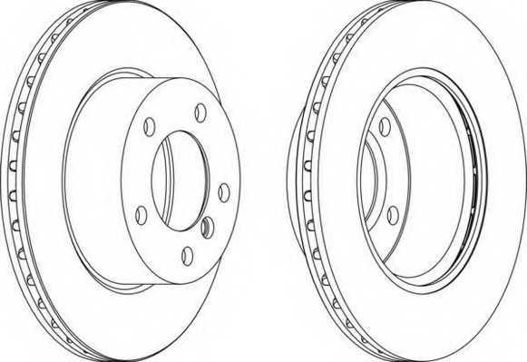 Тормозной диск FERODO DDF1228 - изображение