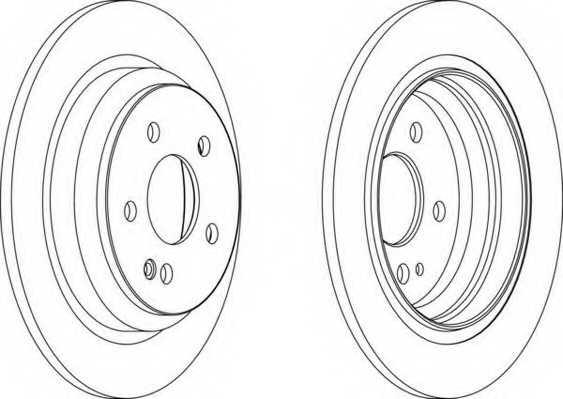 Тормозной диск FERODO DDF1234 - изображение