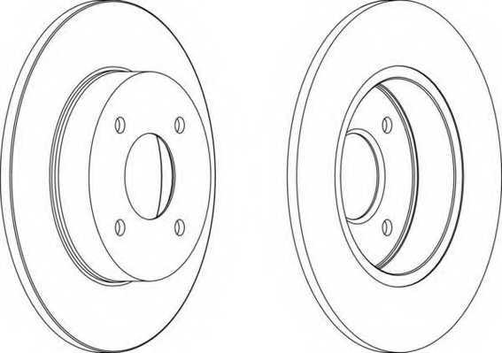 Тормозной диск FERODO DDF1235 - изображение