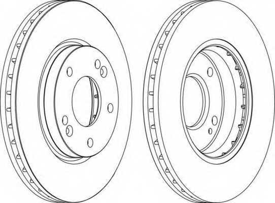Тормозной диск FERODO DDF1239 - изображение