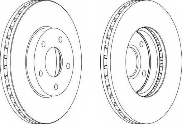 Тормозной диск FERODO DDF1249 - изображение