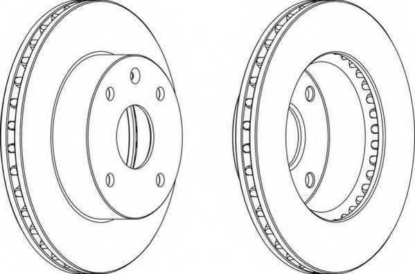 Тормозной диск FERODO DDF1257 - изображение