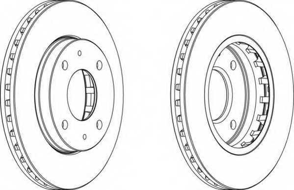 Тормозной диск FERODO DDF1270 - изображение