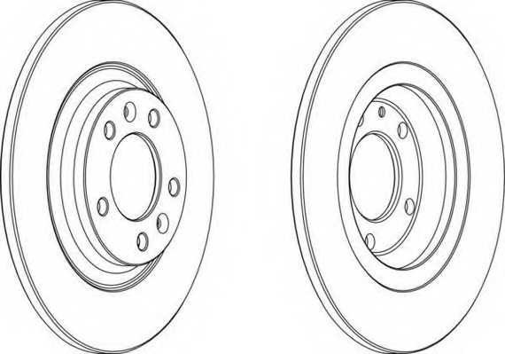 Тормозной диск FERODO DDF1275 - изображение