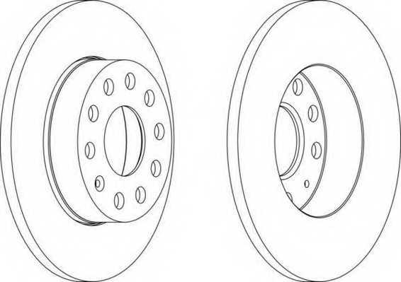 Тормозной диск FERODO DDF1276 - изображение