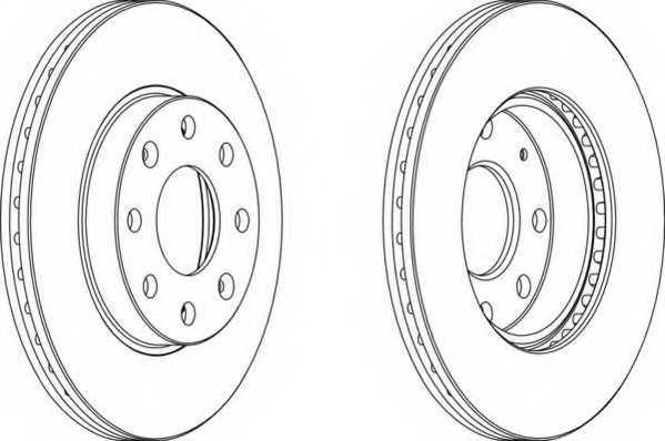 Тормозной диск FERODO DDF1279 - изображение
