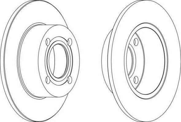 Тормозной диск FERODO DDF128 - изображение