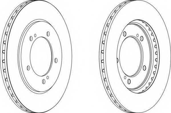 Тормозной диск FERODO DDF1282 - изображение