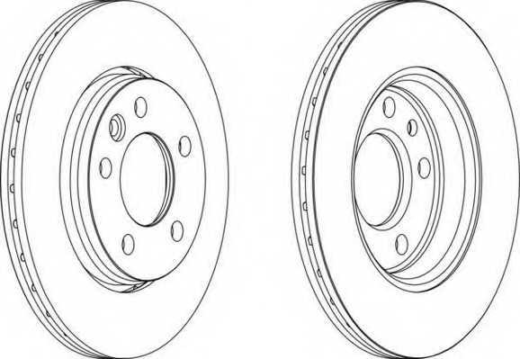 Тормозной диск FERODO DDF1286 - изображение