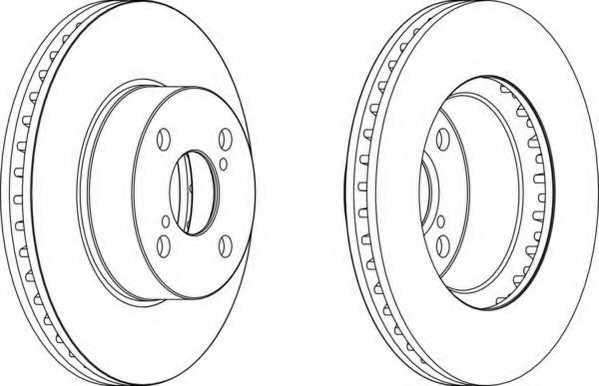 Тормозной диск FERODO DDF1294 - изображение