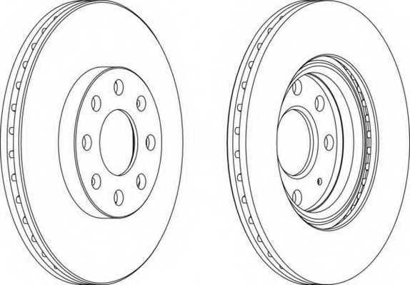 Тормозной диск FERODO DDF1304 - изображение
