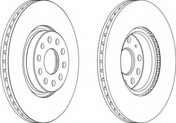 Тормозной диск FERODO DDF1305 - изображение