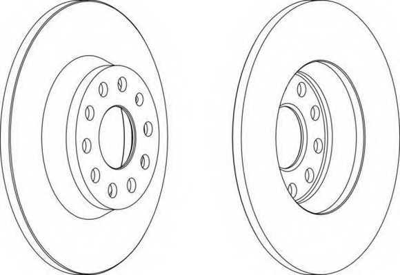 Тормозной диск FERODO DDF1306 - изображение