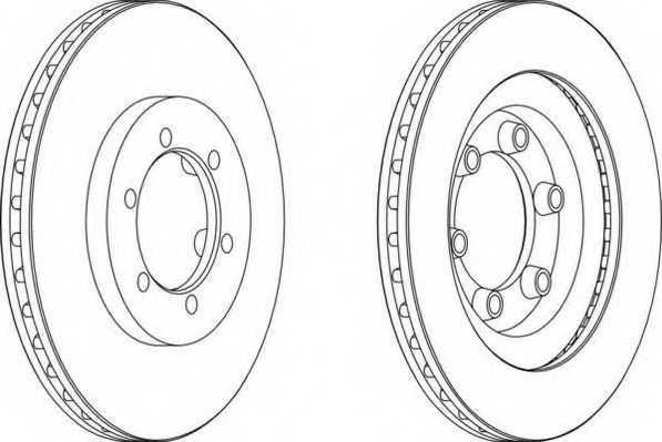 Тормозной диск FERODO DDF1346 - изображение