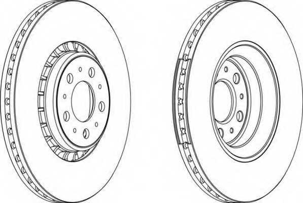 Тормозной диск FERODO DDF1371C-1 - изображение