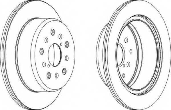 Тормозной диск FERODO DDF1375 - изображение