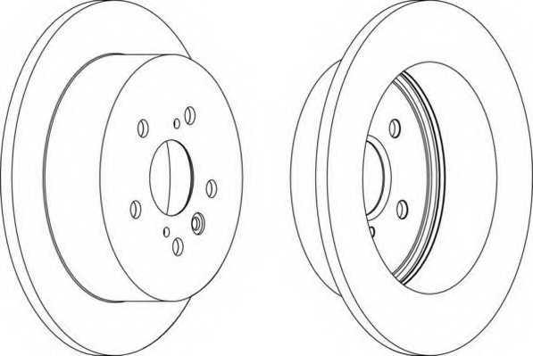 Тормозной диск FERODO DDF1380 - изображение
