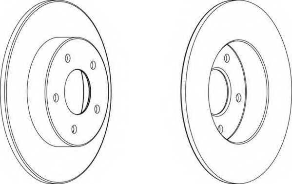 Тормозной диск FERODO DDF1383 - изображение
