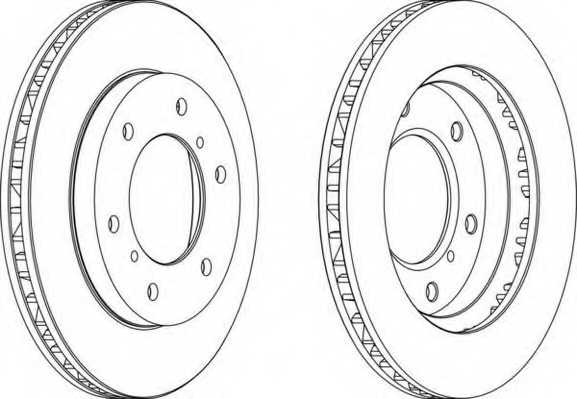 Тормозной диск FERODO DDF1384 - изображение