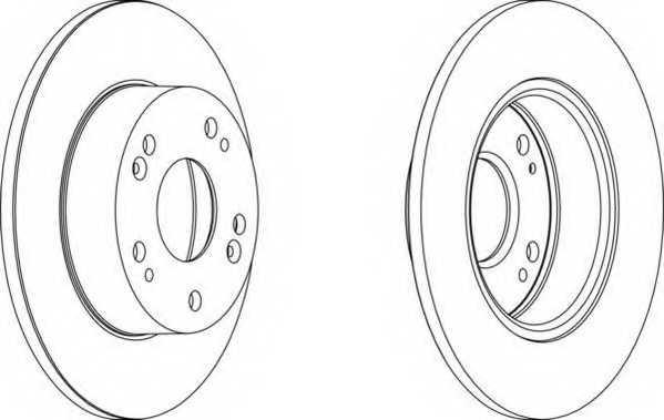 Тормозной диск FERODO DDF1390 - изображение