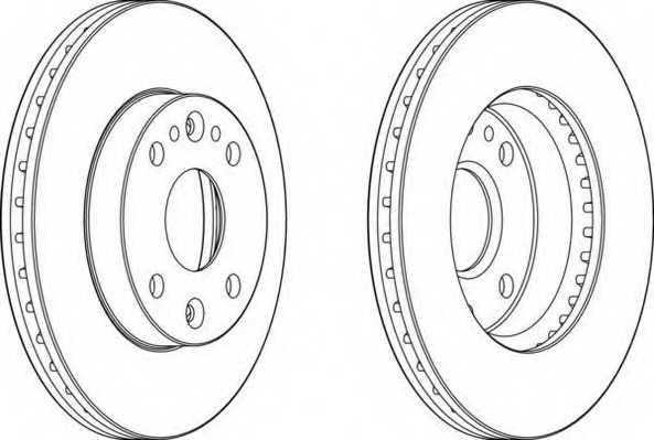Тормозной диск FERODO DDF1391 - изображение 1
