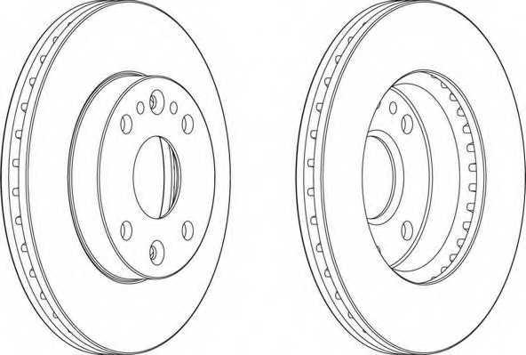 Тормозной диск FERODO DDF1391 - изображение