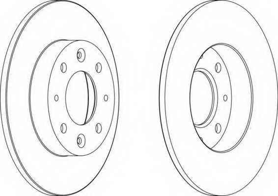 Тормозной диск FERODO DDF1395 - изображение