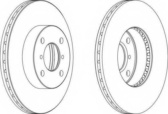 Тормозной диск FERODO DDF1396 - изображение