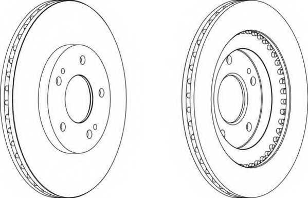 Тормозной диск FERODO DDF1399 - изображение