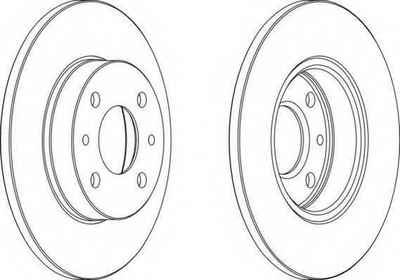 Тормозной диск FERODO DDF140 - изображение