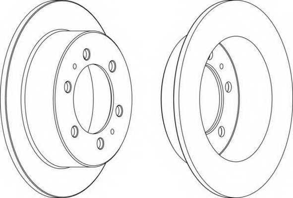 Тормозной диск FERODO DDF1400 - изображение
