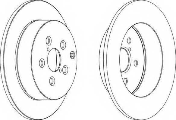 Тормозной диск FERODO DDF1406 - изображение