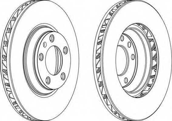 Тормозной диск FERODO DDF1408LC-1 - изображение