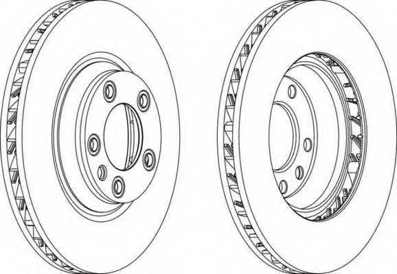 Тормозной диск FERODO DDF1408RC-1 - изображение