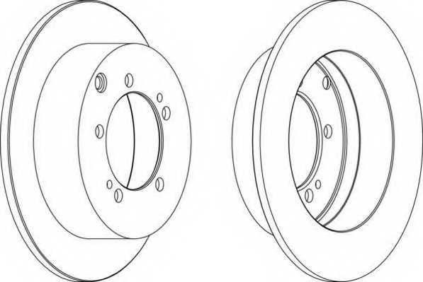 Тормозной диск FERODO DDF1410 - изображение
