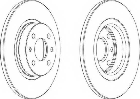 Тормозной диск FERODO DDF141-1 - изображение