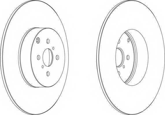 Тормозной диск FERODO DDF1417 - изображение