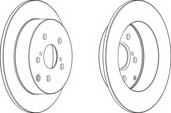Тормозной диск FERODO DDF1419 - изображение