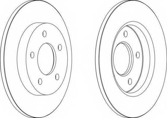 Тормозной диск FERODO DDF1420 - изображение