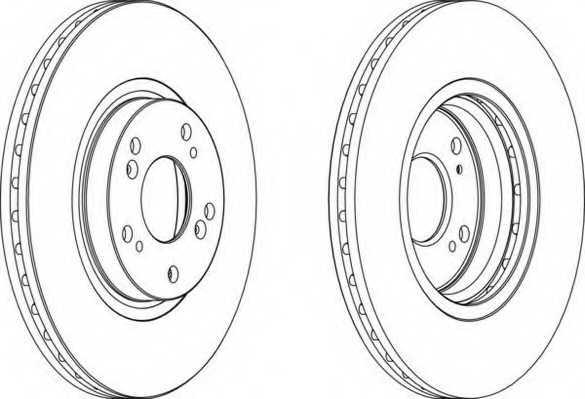 Тормозной диск FERODO DDF1424 - изображение