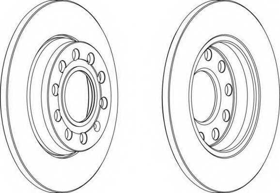 Тормозной диск FERODO DDF1425 - изображение