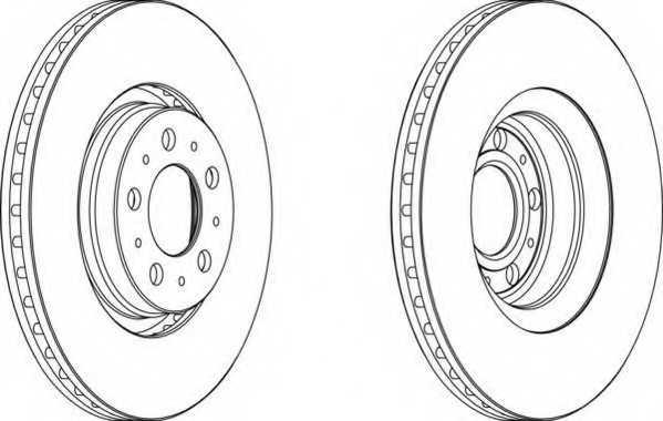 Тормозной диск FERODO DDF1426C - изображение