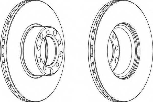 Тормозной диск FERODO DDF143-1 - изображение