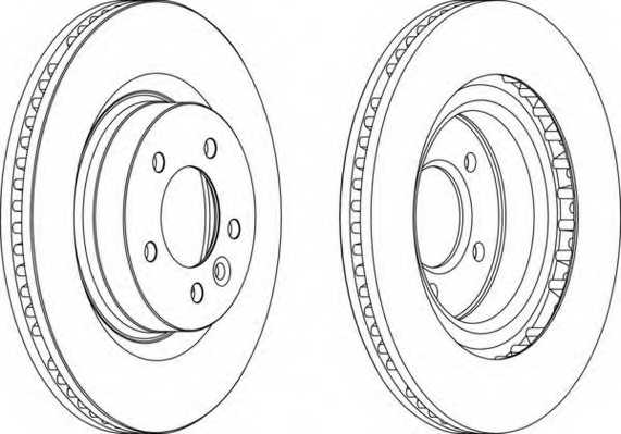 Тормозной диск FERODO DDF1432 - изображение