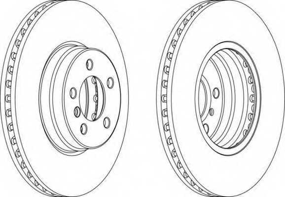 Тормозной диск FERODO DDF1436 - изображение