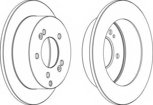 Тормозной диск FERODO DDF1447 - изображение