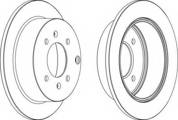 Тормозной диск FERODO DDF1448 - изображение