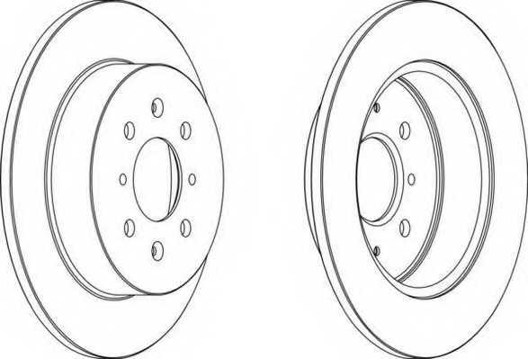 Тормозной диск FERODO DDF1466 - изображение