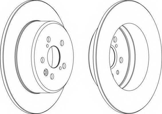 Тормозной диск FERODO DDF1489 - изображение